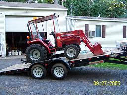 small tractor delivery