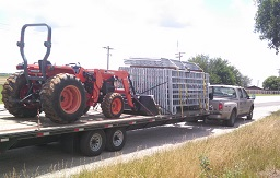 Hauling tractor